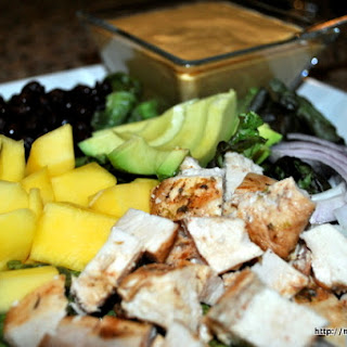 Rum Marinated Chicken and Mexican Mango Salad