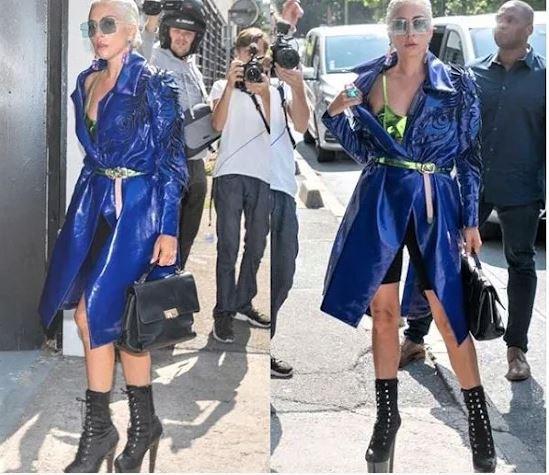 Lady Gaga, con unos zapatos de la almeriense Patricia Rosales.