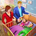 Virtual Mother Baby Twins Family Simulator Game icon