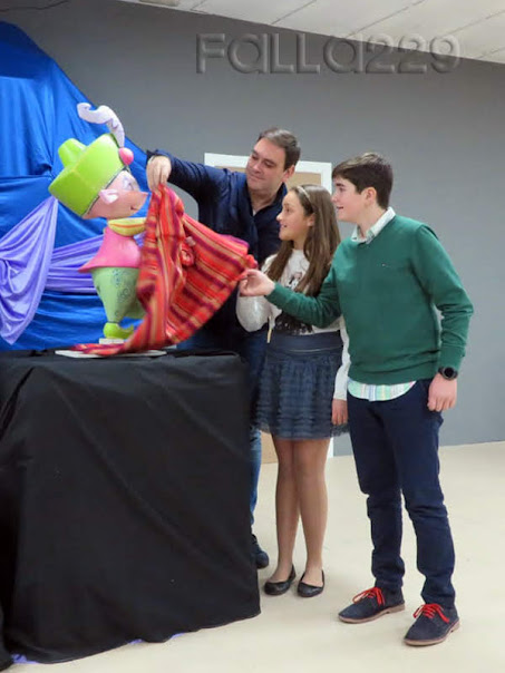 La Falla Antonio Molle - Gregorio Gea presenta el boceto infantil
