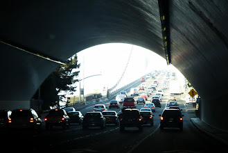 Photo: On the other side of this tunnel is San Francisco, let's see if it's foggy
