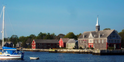 The waterfront of small-town Shelburne, Nova Scotia.