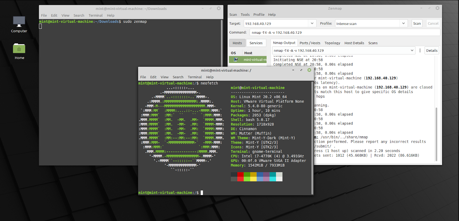 Install Zenmap in Linux Mint 20.x. Source: nudesystems.com