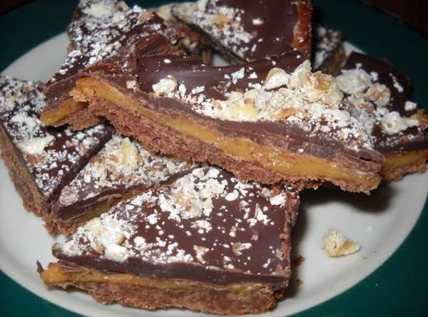 Chocolate Nut Toffee Bars