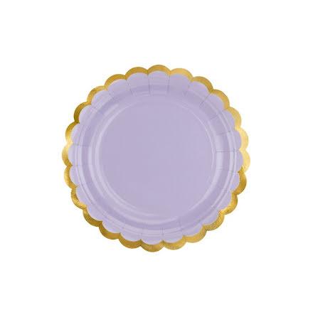 Assietter - Lila & Guld