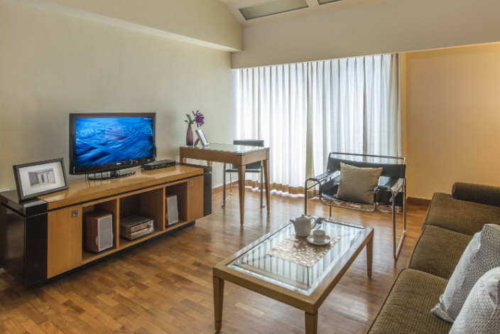 Comfy living room at Orchard Road Serviced Apartments, Orchard Road