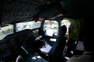 Photo: Cokpit A380 à l'arrivée Heathrow
