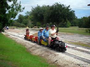 Photo: 1346    Norman Beveridge, Pete Greene, and Engineer Bill Smith    HALS Public Run Day 2013-0921 RPW
