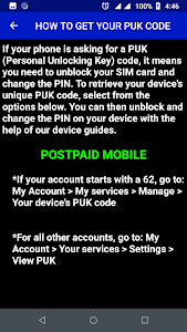 Download Unlock PIN and PUK Codes Guide APK latest version