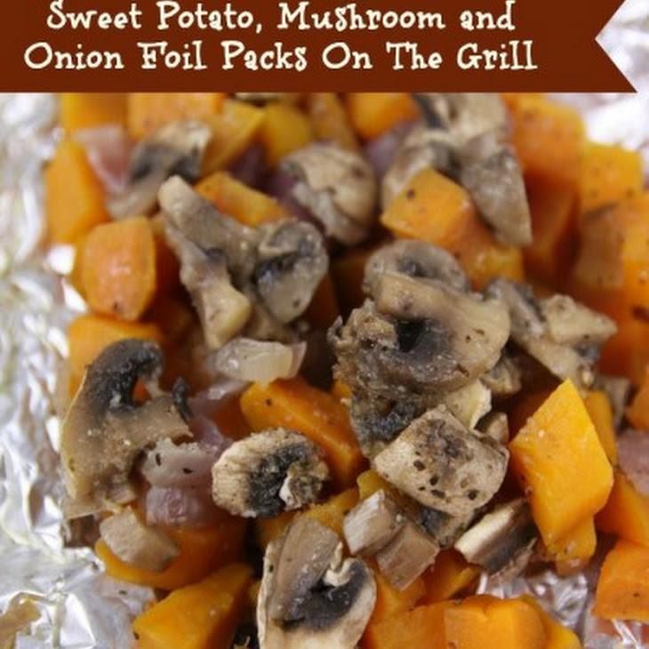 Sweet Potato Mushroom and Onion Foil Pack