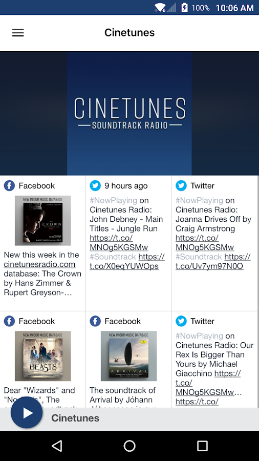 Cinetunes: screenshot