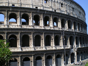 Photo: Roman Coliseum where Christians and wild beasts once battled to the death