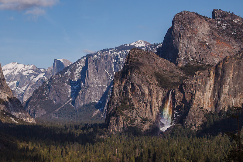 Photo: Bridalveil Fall Rainbow from Tunnel View , Friday, February 22, 2013