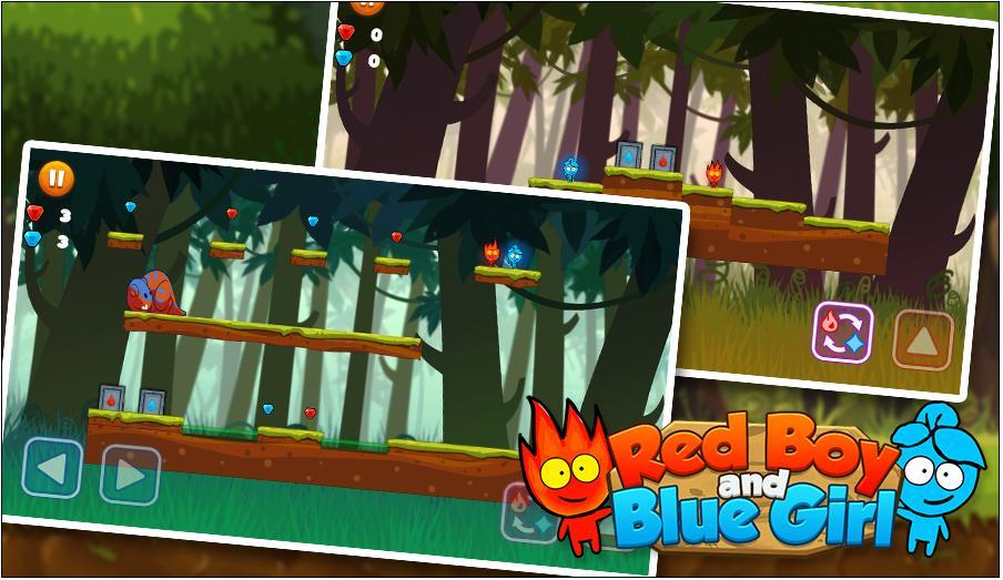 Red boy and Blue girl in Forest Temple Maze 이미지[6]