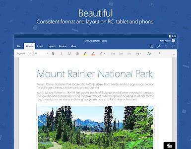 Microsoft Word v16.0.7507.1000 beta