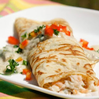 French Seafood Crepes