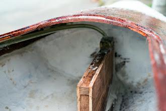 Photo: the skeg box installed