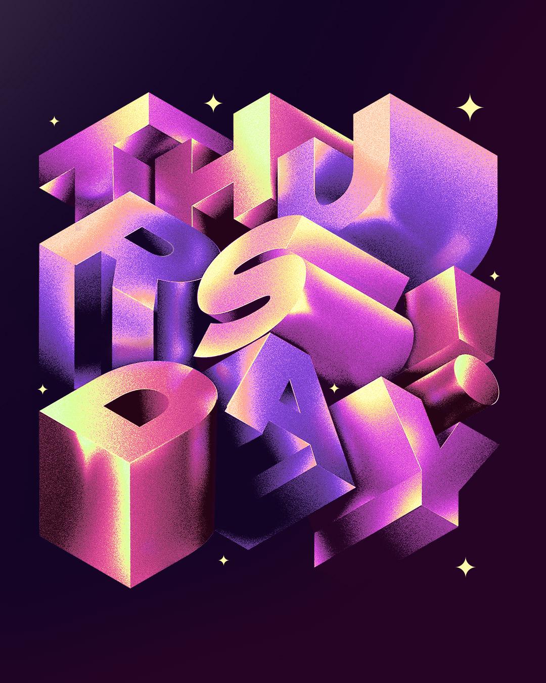 adobe hope hustwilson iridescent Monday type experiment GoodType typeexperiment typegoodness