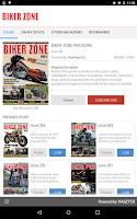 Screenshot of BIKER ZONE MAGAZINE