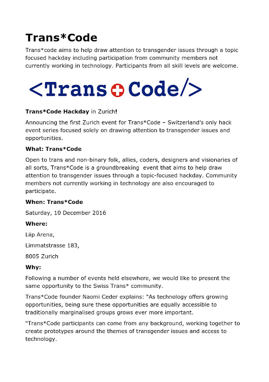 Trans-code press release draft.odt