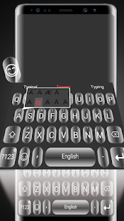 Shiny Black Theme&Emoji Keyboard - náhled