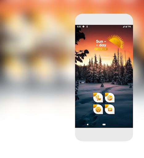 Download Cameo Orange Icons Pack MOD APK 1