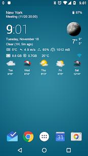 Download Transparent clock & weather For PC Windows and Mac apk screenshot 1