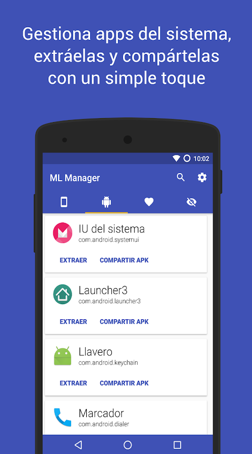 ML Manager: Extrae APK: captura de pantalla