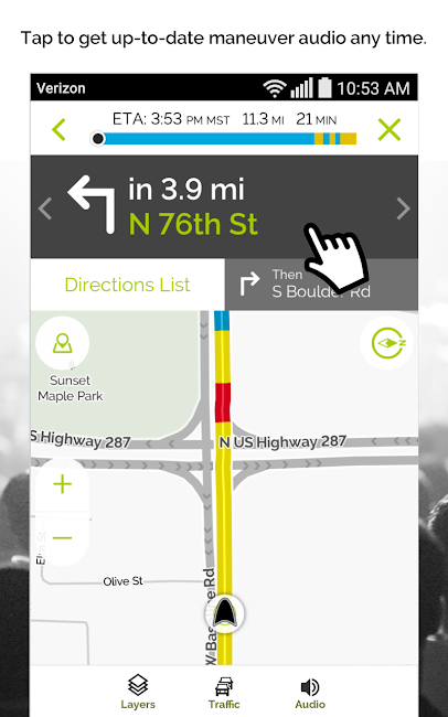 #6. MapQuest GPS Navigation & Maps (Android)