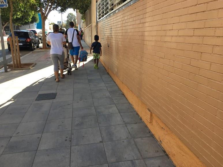 Primer día de colegio en Almería.