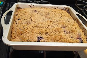 Blueberry Coffee Cake w/ Streusel Topping
