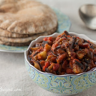 Middle Eastern Eggplant and Tomato Salad