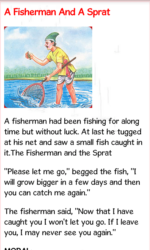Example of fables stories with moral lesson.