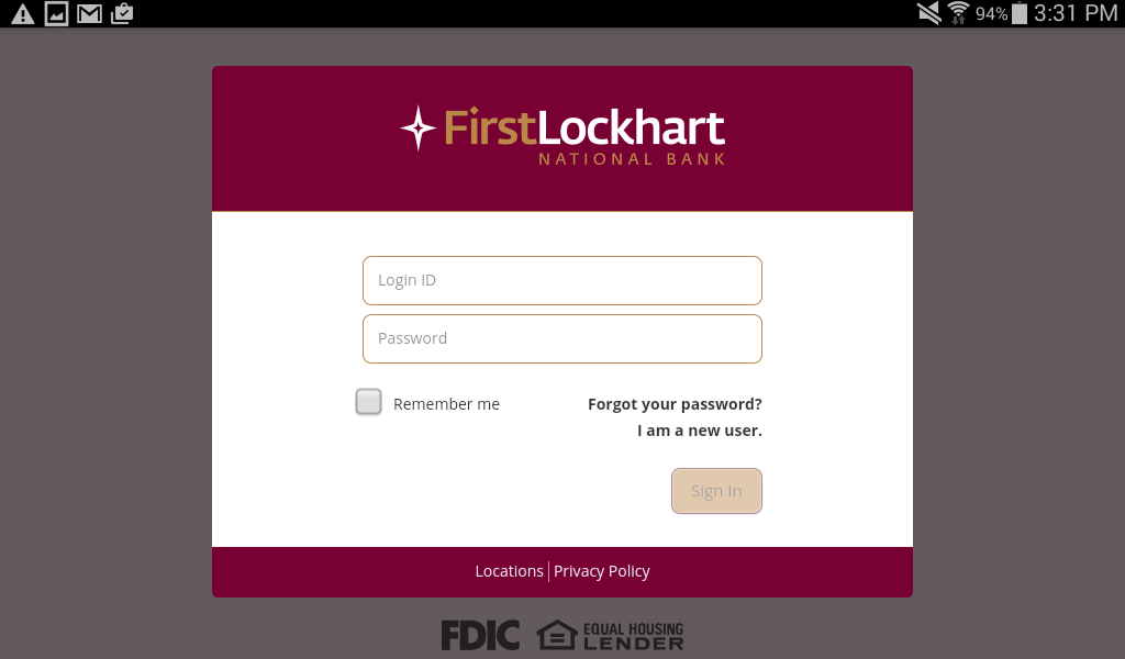 First Lockhart National Bank- screenshot