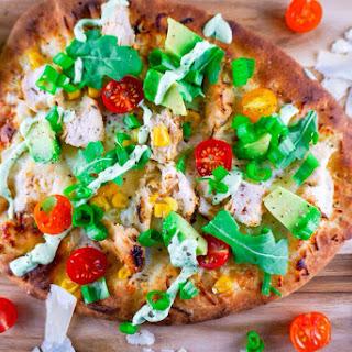 Summer Grilled Chicken Naan Pizza.