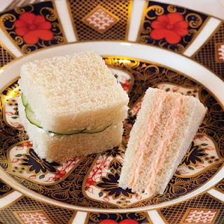 Salmon Mousse Tea Sandwiches.