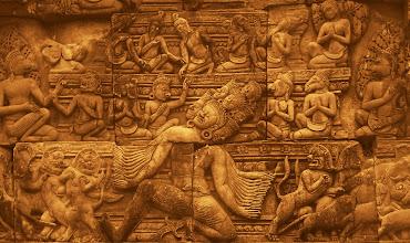 Photo: Banteay Srei Temple Detail atAngkorWat - Siem Reap,Cambodia -http://en.wikipedia.org/wiki/Angkor_Wat