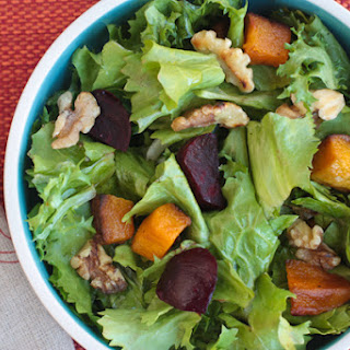 Winter Green Salad with Butternut Squash and Beets