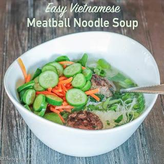 Easy Vietnamese Meatball Noodle Soup.
