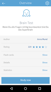 card2brain flashcards- screenshot thumbnail