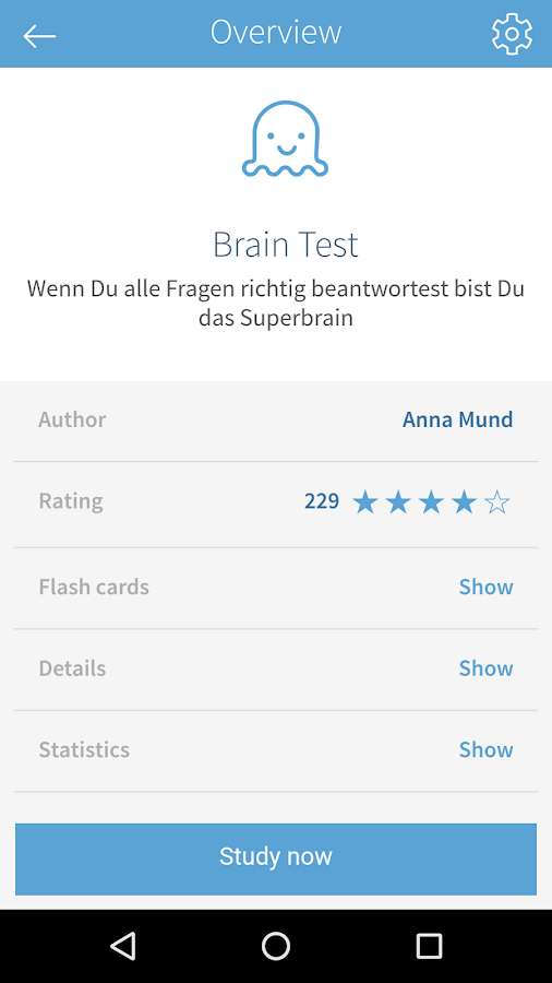 card2brain flashcards- screenshot
