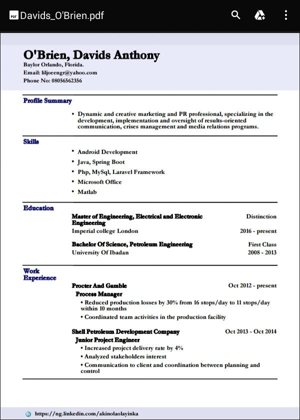resume cv maker - Dcbuscharter.co