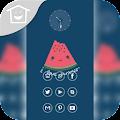 Download 清澈蓝色水果主题 APK