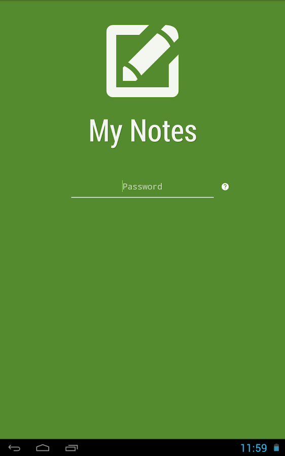 My Notes - Notepad- screenshot