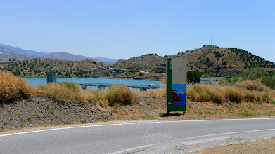 Photo: The Vinuela reservoir - thankfully full this year