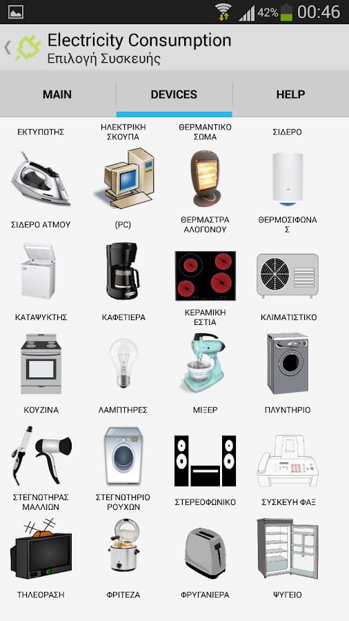 Κατανάλωση ρεύματος - στιγμιότυπο οθόνης