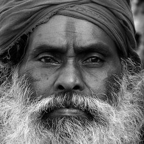The Monk by Ajay Halder - People Portraits of Men (  )