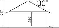 Domek Miodowy 003 ET - Przekrój
