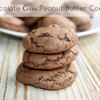 Chocolate Cocoa Peanut Butter Cookies.