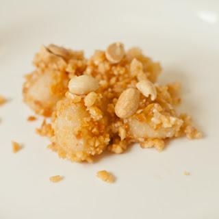 Peanut-Covered Mochi Dessert